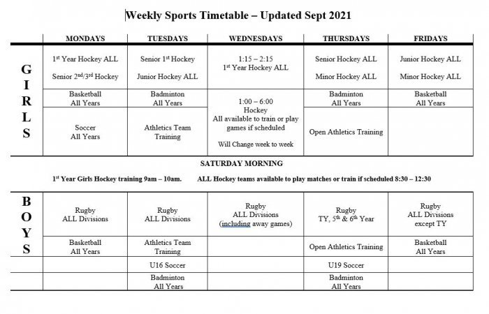 Sports Timetable_1